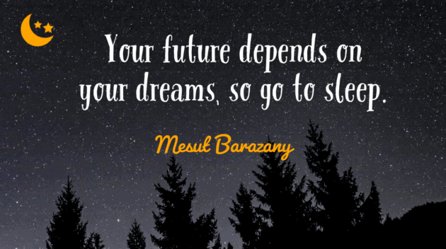 Quote about sleep as a way for people to start managing stress better