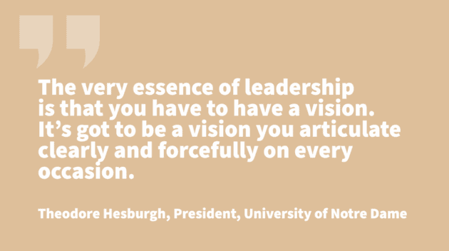 traits of leadership - Theodore Hesburgh
