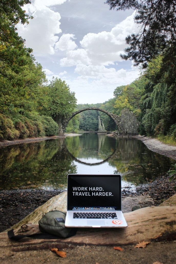 Working remotely outdoors