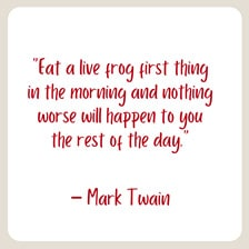 mark twain quote for your morning routine