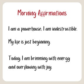 morning affirmations for your morning routine
