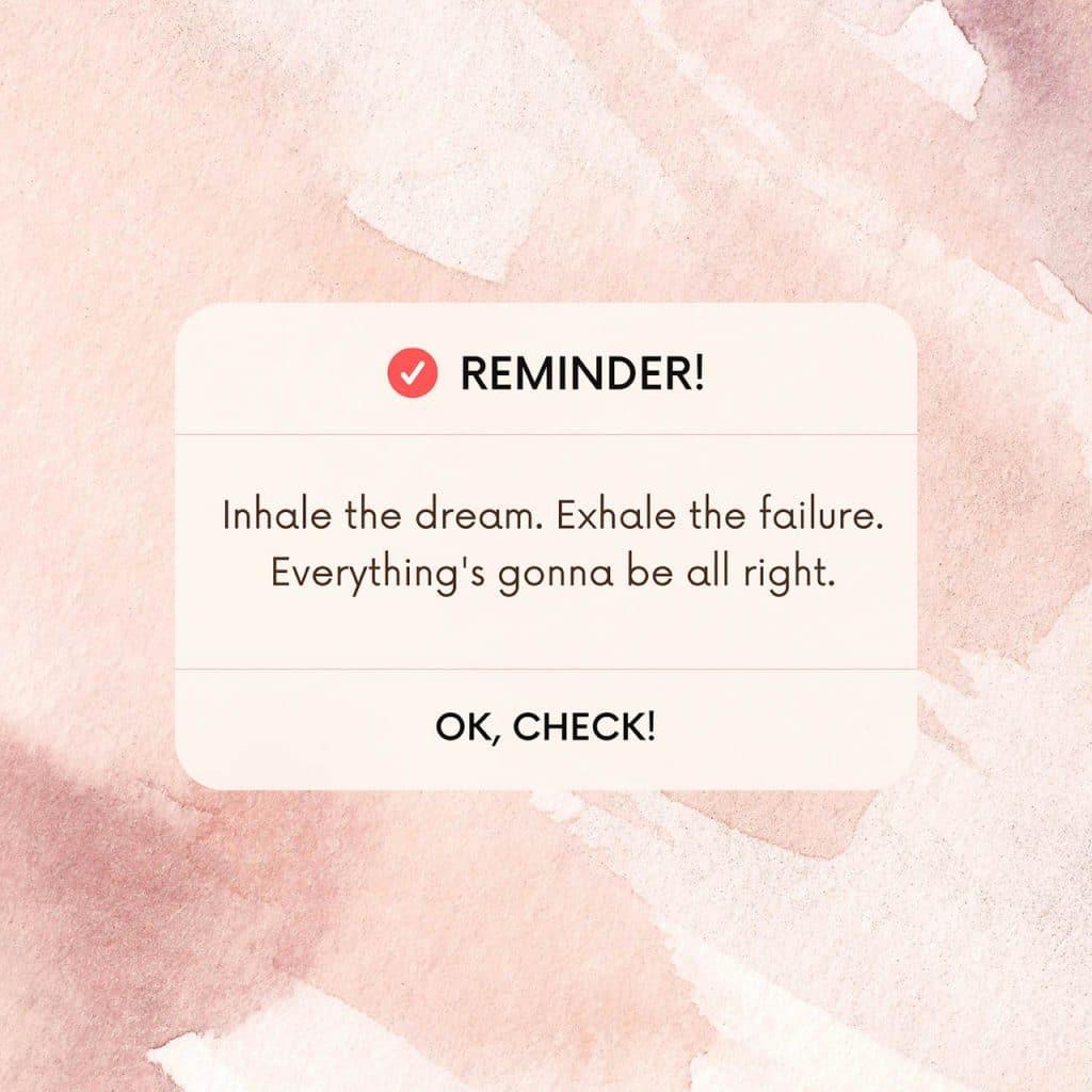 inhale the dream
