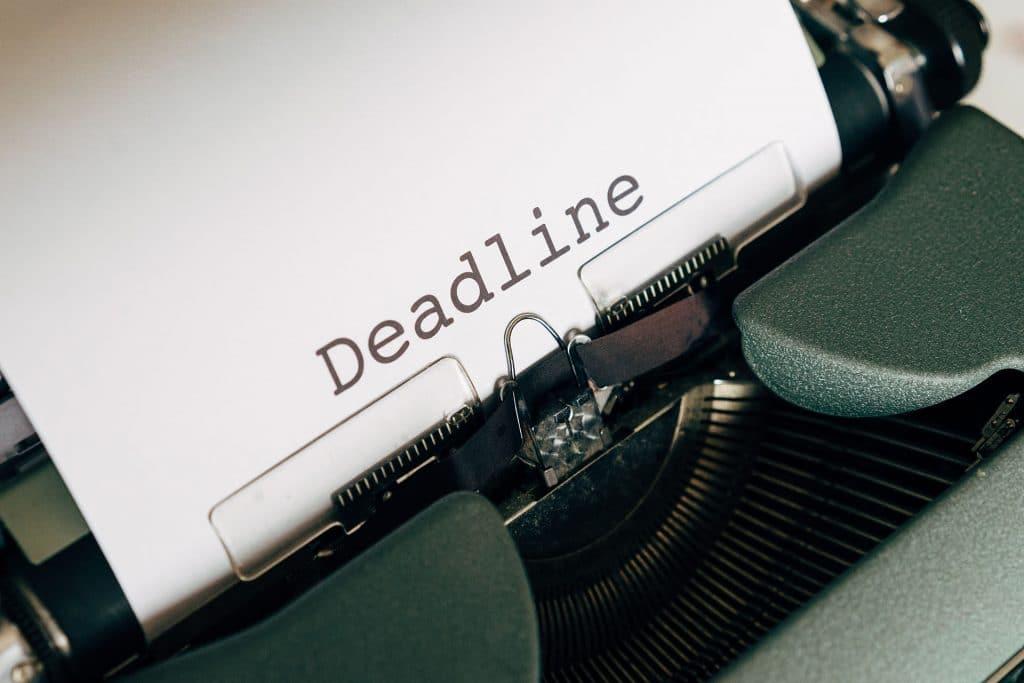 stay organized - deadlines